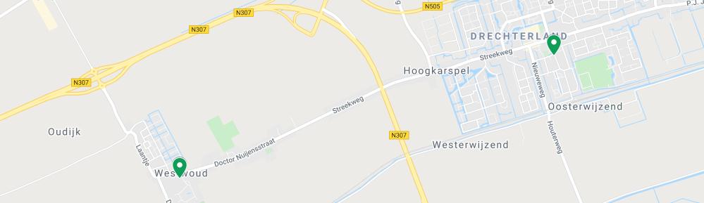 Google Maps afbeelding van locaties